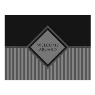 welcome aboard (diamondStriped) Postcard