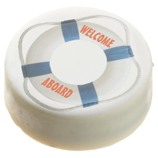 Welcome Aboard Life-Ring Nautical Chocolate Covered Oreo
