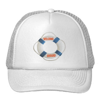 Welcome Aboard Life Ring Trucker Hat