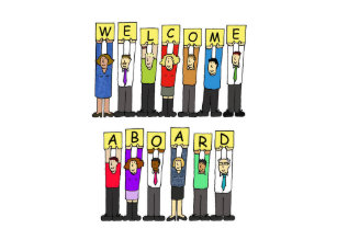 Welcome new employee gifts on zazzle welcome aboard new employee card thecheapjerseys Choice Image