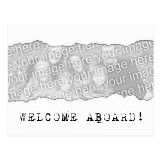 welcome aboard! (page tear) postcard
