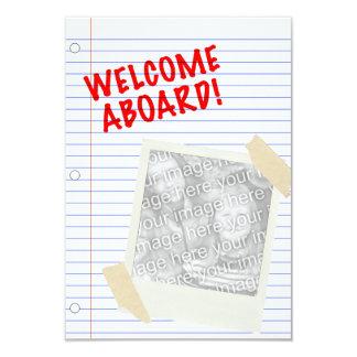 welcome aboard! polaroid 3.5x5 paper invitation card