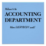 Welcome ACCOUNTING DEPARTMENT Accounts Office Sign