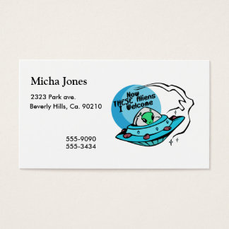Welcome Aliens Business Card