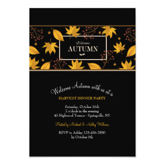 Welcome Autumn Banner Sable Invitation