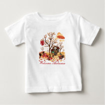 Welcome Autumn - Fall Scenery Baby T-Shirt