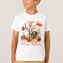 Welcome Autumn - Fall Scenery T-Shirt