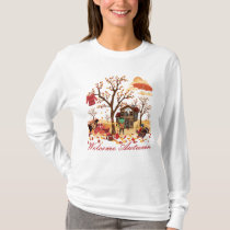 Welcome Autumn Fall Scenery T-Shirt