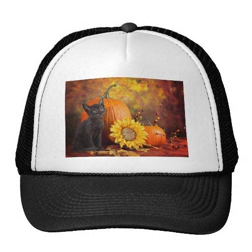 Welcome Autumn Werewolf Kitten Trucker Hats