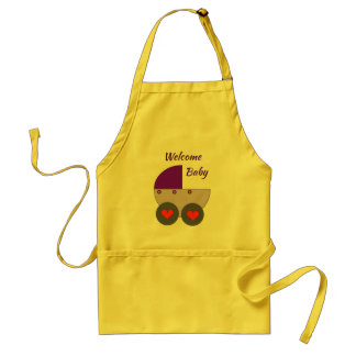 welcome baby adult apron