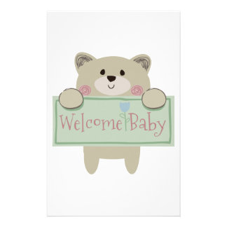 WELCOME BABY APPLIQUE STATIONERY