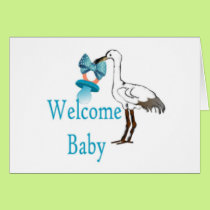 Welcome Baby Blue Card