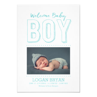 Welcome Baby Boy | Birth Announcement
