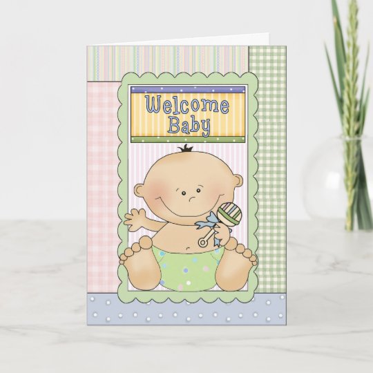 Welcome baby boy congratulations greeting card zazzle welcome baby boy congratulations greeting card m4hsunfo
