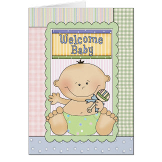 Welcome Baby Boy Congratulations Greeting Card
