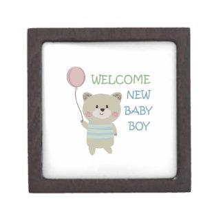 WELCOME BABY BOY PREMIUM TRINKET BOX