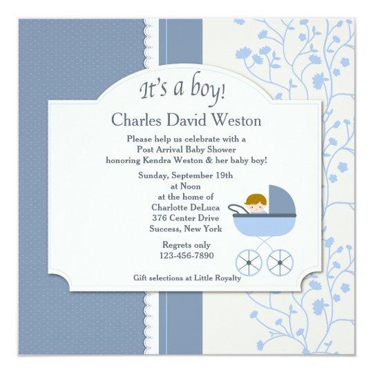 welcome baby boy shower invitation zazzle com