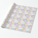 Welcome Baby Girl-Colorful Gift Wrap Paper