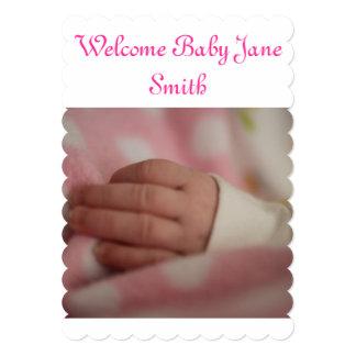 Welcome Baby Girl Custom Invite