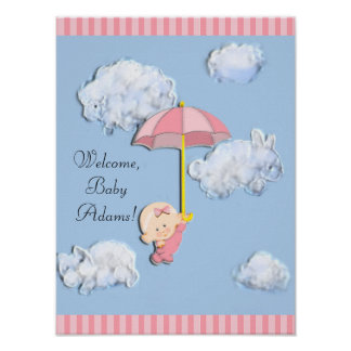 Welcome Baby Girl Poster