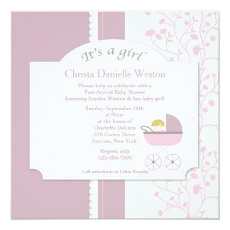 Welcome Baby Girl Shower Invitation