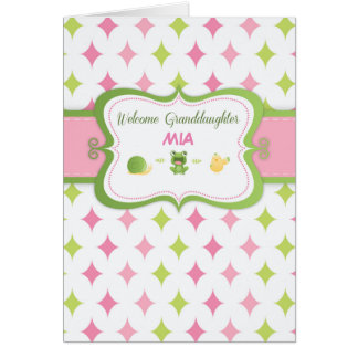 Welcome Baby Granddaughter Custom Personalized Nam Card