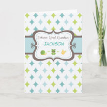 Welcome Baby Great Grandson Custom Personalized Na Announcement