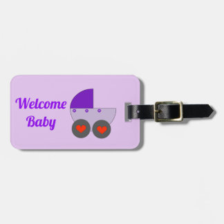 welcome baby luggage tag