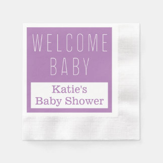 Welcome Baby Napkin