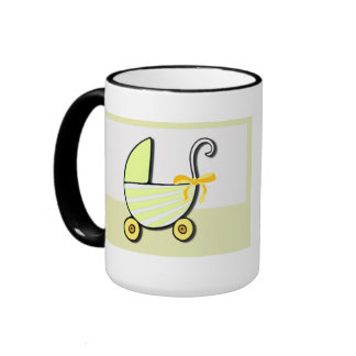 Welcome Baby or Baby Shower Ringer Mug