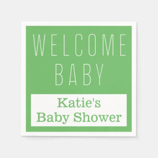 Welcome Baby Paper Napkin
