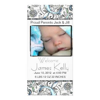 welcome baby photocard card