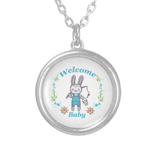 Welcome Baby Silver Plated Necklace
