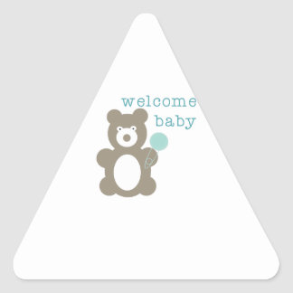Welcome Baby Triangle Sticker