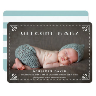 Welcome Baby Sweetly Framed Birth Announcement