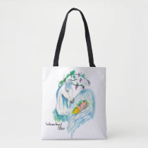 Welcome Baby To The World Unicorn Style Tote Bag