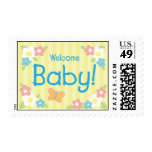 Welcome Baby Yellow  Postage Stamp