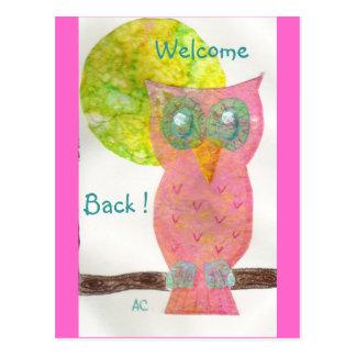 Welcome back ! 4 postcard
