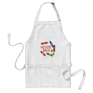 Welcome Back Adult Apron