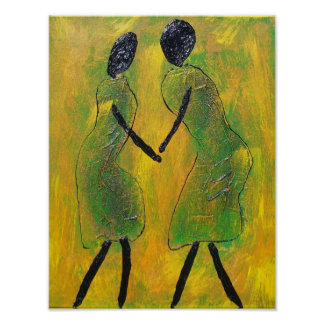 Welcome Back - African Art Print