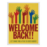 Welcome Back. ASL poster.