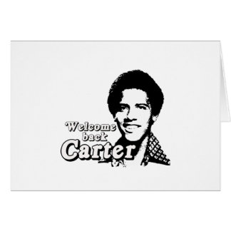 Welcome back Carter Greeting Card