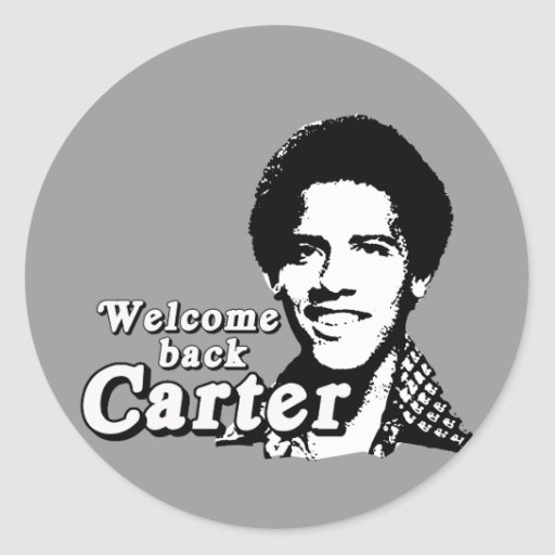 Welcome back Carter Classic Round Sticker