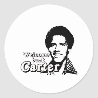 Welcome back Carter Round Stickers