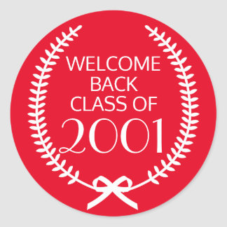 Welcome Back Class Of Classic Round Sticker