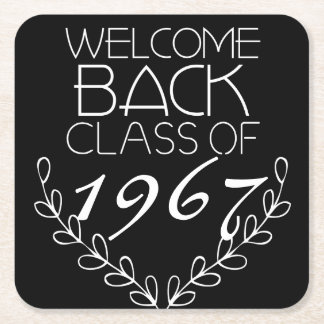 Welcome Back Class Of Square Paper Coaster