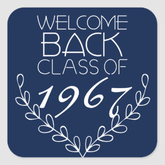 Welcome Back Class Of Square Sticker
