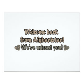 Welcome Back from Afghanistan Card