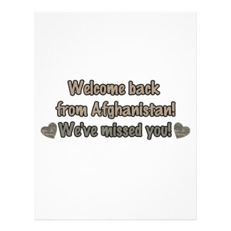 Welcome Back from Afghanistan Flyer