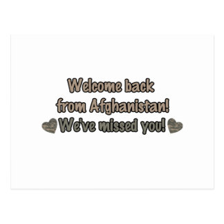 Welcome Back from Afghanistan Postcard